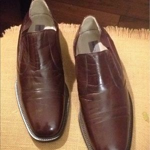 Stacy Adams brown leather slip on